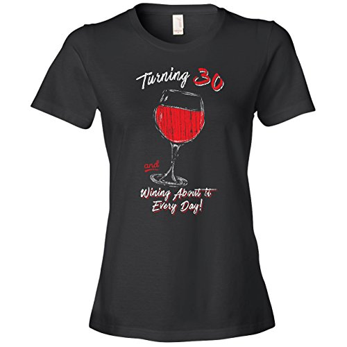 30th Birthday Gifts for Her, Vintage, 30 Wine Glass, Black, Large (Best 30th Birthday Gifts For Her)