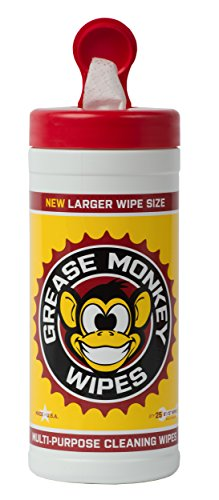 - Grease Monkey Canister Heavy-Duty Cleaning Wipes Canister, 25-Count