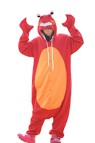 Lifeye Adult Red Crab Pajamas Animal Cosplay Costume Red -