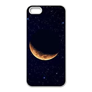 DaojieTM Golden Moon Galaxy Star Sky Phone Case for Iphone 5/5s