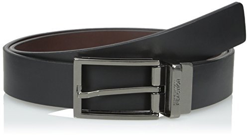 Kenneth Cole REACTION Men's Engraved logo belt,Black/Brown,38 (45 Best Small Business Opportunities)