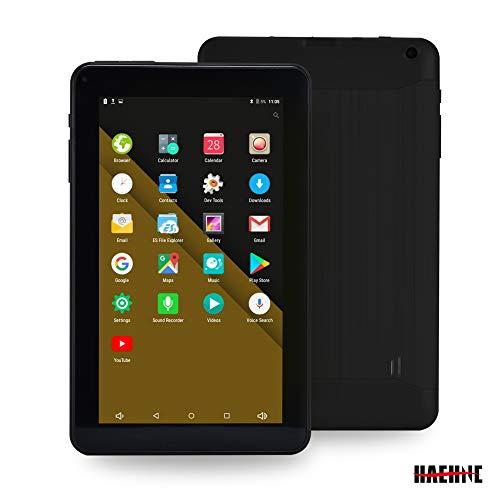 Haehne 9 Inch Tablet PC, Google Android 6.0 Quad Core,800480 Screen, 1.3GHz, Dual Cameras, 1GB RAM 16GB ROM, 3000mAh,Bluetooth, WiFi, Black
