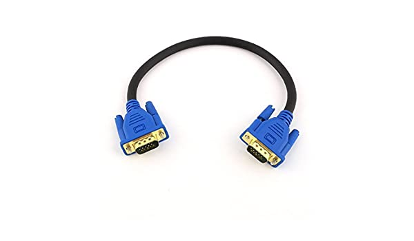 Amazon.com: eDealMax TV Monitor conectores de Video VGA Macho a Macho Cable DE 30 cm 11.8inches Azules: Electronics