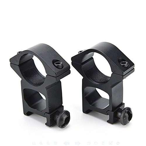 Price comparison product image Rifle Scope Mount Ring 25mm KingNew, Single Nail High Width Dovetail Track Gun Clip (2 Pack)