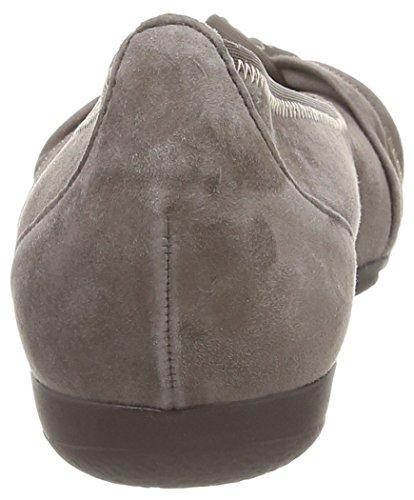 Gris Gabor Zinn cuero Bailarinas Gabor Shoes de mujer 57nqTHYHf