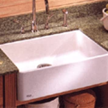 Beautiful Franke MHK110 24WH Manor House Drop In/Farmhouse Fireclay Kitchen Sink  White Manor House