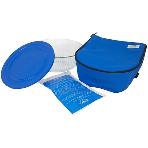 Bon Pyrex Portables Serving Bowl With Insulated Carrier, Clear With Blue  Carrier: Amazon.ca: Home U0026 Kitchen