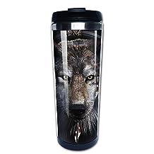 Cool Abstract Wolf Portrait Head Travel Mug & Coffee Mugs
