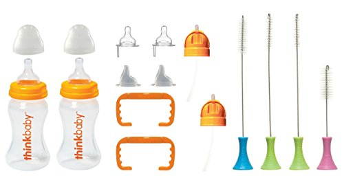 Thinkbaby All In One Bottle Set with Cleaning Brush Set