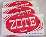 Zote Laundry Soap Bar - Stain Remover - Catfish Bait - Pink...