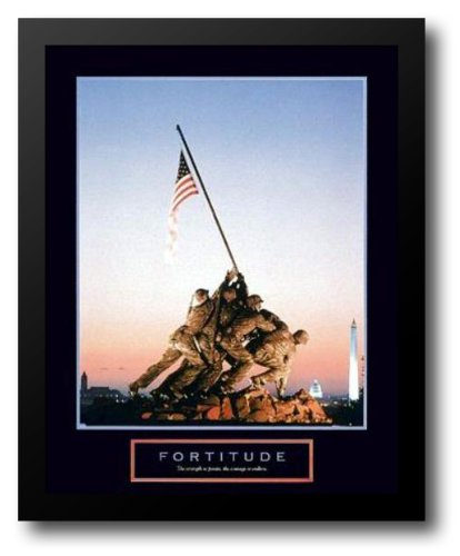 - Fortitude - Iwo Jima 26x32 Framed Art Print