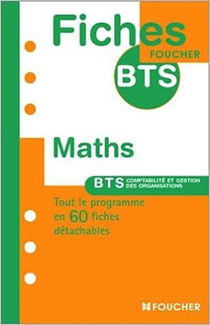Téléchargements gratuits de livres audio Fiches BTS : Maths PDF PDB CHM