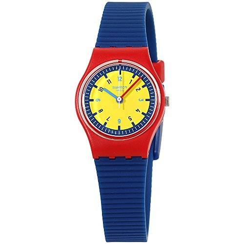 Swatch Originals Bambino Yellow Dial Silicone Strap Ladies Watch LR131