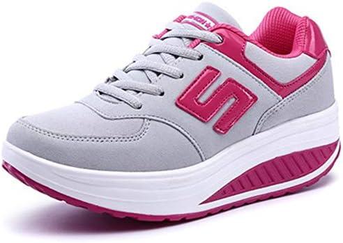 WJNBCRGLM Zapatillas de Deporte para Mujer Plataforma Cuña Zapatillas de Peso Ligero Zapatillas de Running para Mujer Columpios Transpirables Deportes para Adelgazar, 39: Amazon.es: Deportes y aire libre