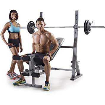 Golds Gym* XR 10.1 Olympic Weight Bench Accommodates Olympic-width 6 and 7 bars