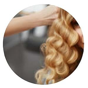 alfombrilla de ratón pelo rizado rubio. Peluquería haciendo corte de pelo para jóvenes i mujer - ronda - 20cm