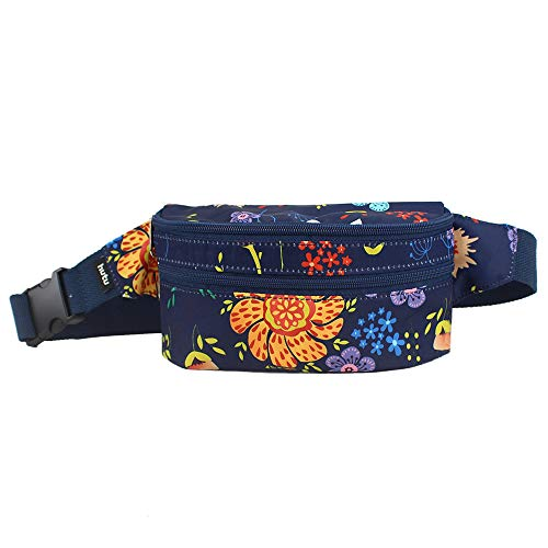 - HUTU Fanny Pack for Women Cut Waterproof Fashion Waist Bag with Adjustable Strap for Hiking Running Cycling Outdoors Travel (Flowers)