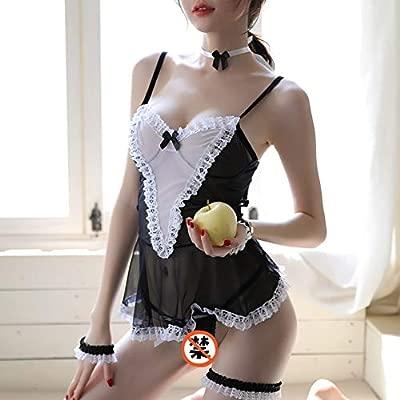 Maid wear little maid pasión traje sexy lencería collar ...