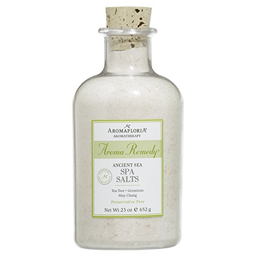 Aromafloria Aromaremedy Collection Spa Salt, Eucalyptus/Tea Tree/Geranium/May Chang/Sandalwood, 23.0 Ounce