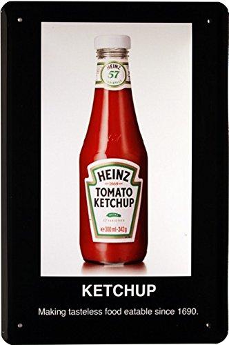 Cartel de Chapa Heinz Tomato Ketchup Heinz 20 x 30 cm Diseño ...
