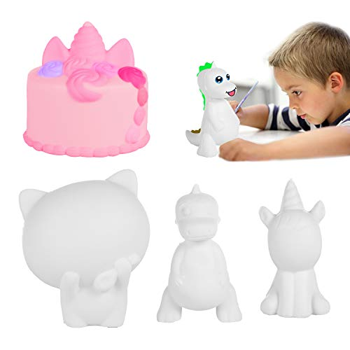 EKOOS DIY Animals Squishies large 4 Pcs Developing ideas Hands-on ability, Cream Scented Slow Rising Kawaii Toy