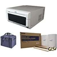 DNP DS820A 8in Professional Dye-Sublimation Printer for 8x10in and 8x12in Photos - Bundle with DNP Pure Premium Media for DS820A Printer, 2x 130 Print Rolls, Printer Carrying Case