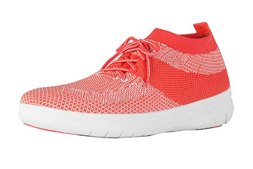 f86c9b5ab Galleon - FitFlop Trade  Womens Uberknit Trade  Slip-On High Top Sneakers  Hot Coral Neon Blush Size 6.5