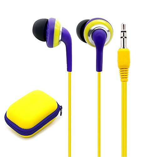 Wired Earbuds With Microphone, 3.5mm Bass Stereo In-ear Headphones for IOS/Android Device (Smart-phones & Laptops), Available When Exercise, Pack of 2PCS, Color Random by KATEVO (Image #2)