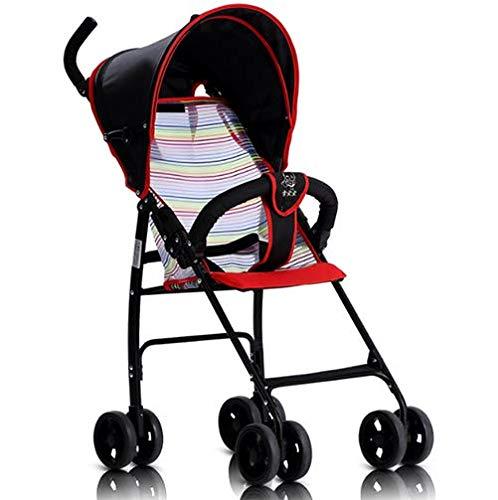 ベビーカーのユニークなクイック検索ですべての赤ちゃんのためのベビーカー超軽量ポータブル折り畳み式ベビーカー,Red   B07GX99NZY