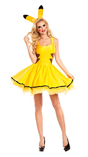 Party King Women's Catch Me Honey Costume, Yellow,