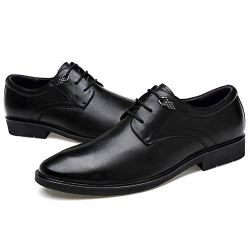 Hombres Negocios Del Británico Jusheng Negro Zapatos De Eu Formales Patrón Marrón Tamaño Los Informal 40 Cuero Cocodrilo color Oxford wX78wv
