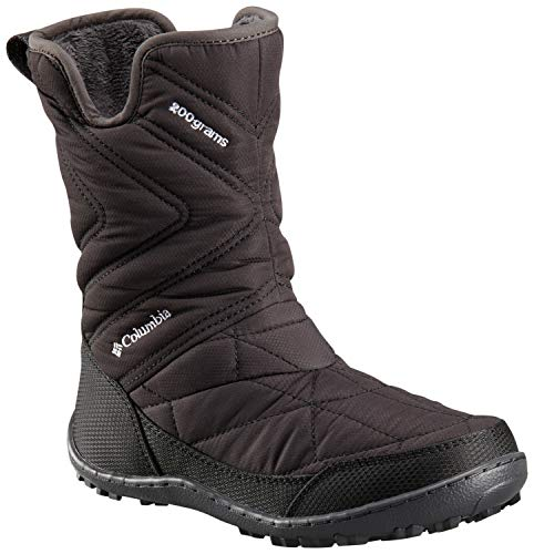 Columbia Girl's Youth Minx Slip III Snow Boot, Black, White, 2 Regular US Little Kid - Iii Snow Boot