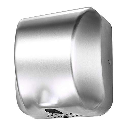 Heavy Duty Commercial Hand Dryers-1800 W High Speed-Brushed Stainless Steel 304 Cover KINGWE