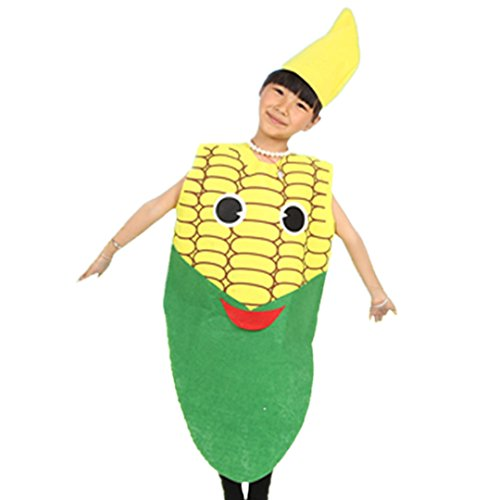 Multifit Kids Halloween Performance Cloak Robe Party Cape Costume Accessory(Corn) -