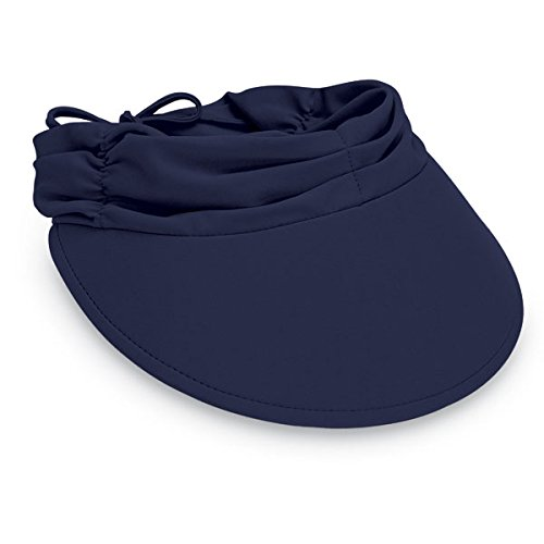 Wallaroo Women's Aqua Sun Visor - Quick-Drying Lightweight Sun Hat, Navy