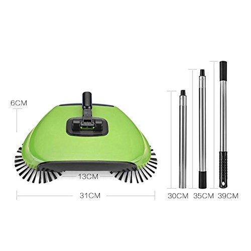 BPG Spin Broom/Sweeper, As Seen on TV.Lightweight Cordless Spinning Broom for Sweeping Hard Surfaces Like Wood, Tiles and Concrete. 3-in-1 Non-Electricity Lazy Push Dust Collector. (Random Color) by BPG (Image #8)