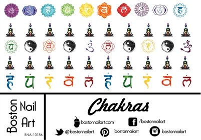 - Chakras - Waterslide Nail Decals - 50pc