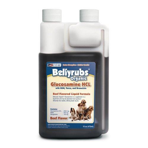 Bellyrubs Organic 16-Ounce Liquid Dog Supplement, Glucosamine HCL with MSM, Yucca and Bromelain, My Pet Supplies