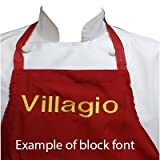 Chefskin Personalized Embroidery Apron Choose color and Name (CHILDREN MEDIUM)