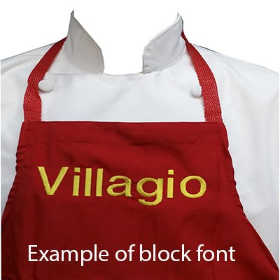 Chefskin Personalized Embroidery Apron Choose color and Name (CHILDREN MEDIUM) ()