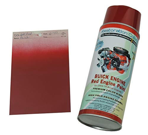 Photo Compatible With 1964-74 Buick 350 400 455 GS GSX Skylark High Temp Engine Red Spray Paint 1 Can (C-1-7)
