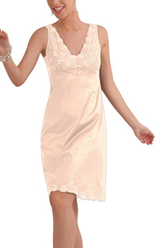 Under Moments Classic Antistatic Non-Cling Vintage Full Slip with Lace Details