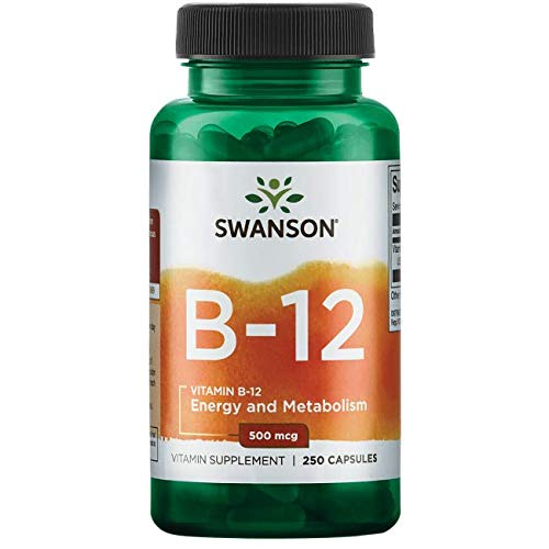 Swanson Vitamin B-12 (Cyanocobalamin) 500 mcg 250 Capsules
