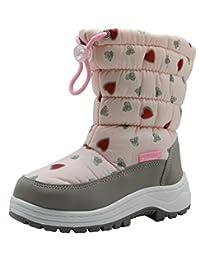 Apakowa Girls Winter Snow Boots Warm Faux Fur Lined (Toddler/Little Kid)