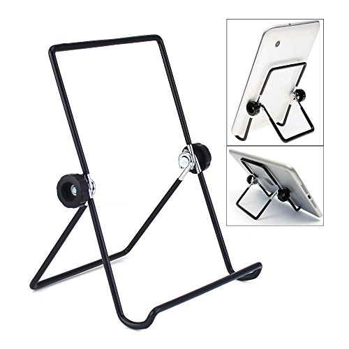iPad Stand Holder,Universal Multi-angle Non-slip Adjustable Portable Metal Wired Holder Cradle for 9 - 10.1 inch Tablet,Apple iPad,Samsung Tab,Pad (Black)