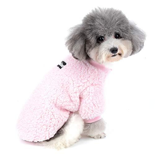 Zunea Small Dog Clothes Coat Winter Fleece Warm Puppy Jacket Apparel Chihuahua Sweater Clothing Pet Cat Doggie Boys…