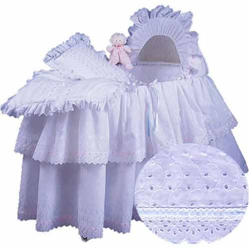 aBaby Little Angel Bassinet Skirt, White, Small ()
