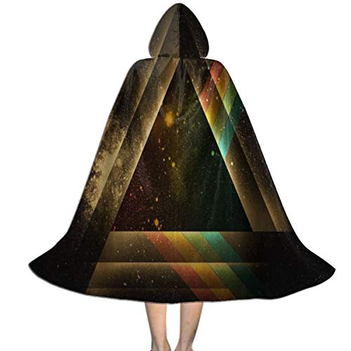 Hooded Cloak Cape Rainbow Triangle in Galaxy Hot Party Vampires Cosplay for Kids Girls Boys