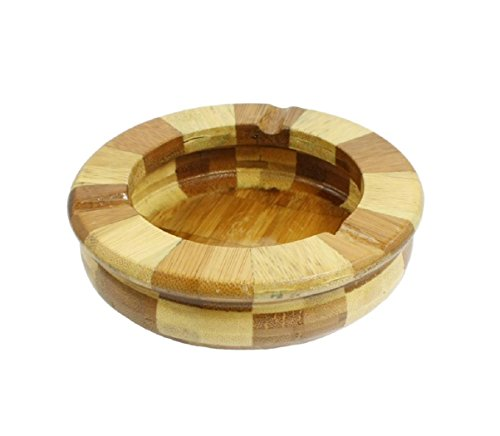 Mexican Sand Shape (Hot Amico Home Office Beige Brown Bamboo Round Shape Cigarette Ash Holder Ashtray)