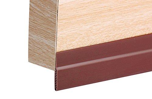 """Double Layers Under Door Sweeper Door Draft Stopper Pest Proof Door Noise Stopper & Soundproofing Door Weather Stripping, Strong Adhesive Door Bottom Seal Strip 1.78"""" or 1.1""""Width (45mm lengthen)"""